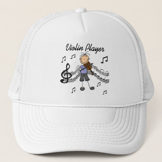 Girl Violin Player Tshirts and Gifts Trucker Hat