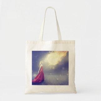 Girl vs. a Meteor Tote Bag