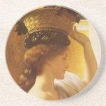 Girl w Basket of Fruit, Leighton Vintage Victorian Coasters