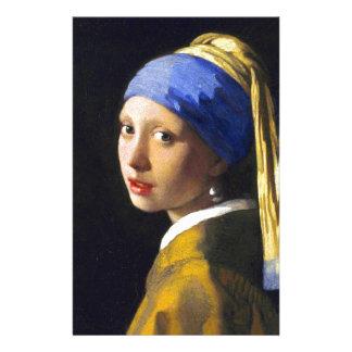 Girl w Pearl Earring ~ Vermeer Custom Stationery
