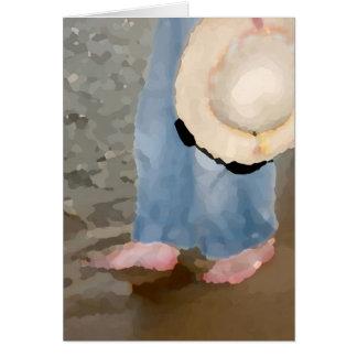 Girl Wading Card