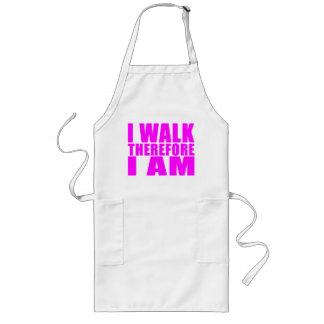 Girl Walkers : I Walk Therefore I Am Long Apron