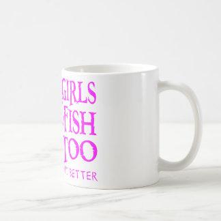 GIRL WALLEYE FISHING COFFEE MUG