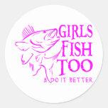 GIRL WALLEYE FISHING STICKER