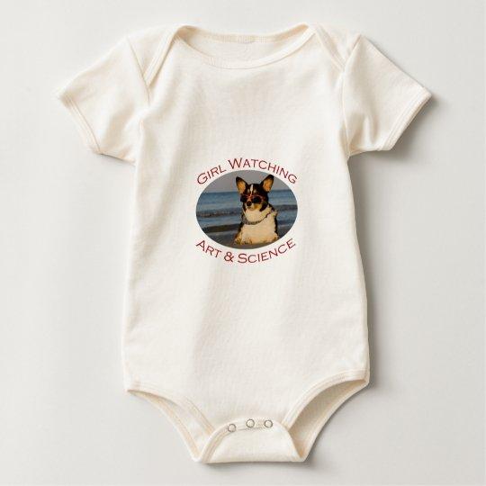 Girl Watching, Art & Science Baby Bodysuit