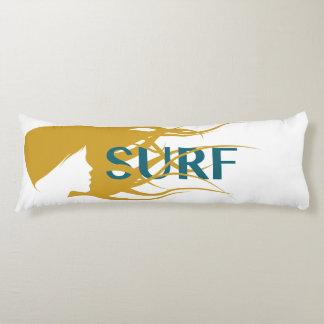 "Girl Watching Waves: Body Pillow ( 20"" x 54"")"