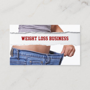 Weight loss business cards templates zazzle girl weight loss fitness business card colourmoves