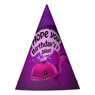 Girl Whale Birthday Party Hat