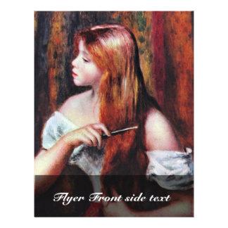 Girl When Combing,  By Pierre-Auguste Renoir Flyer