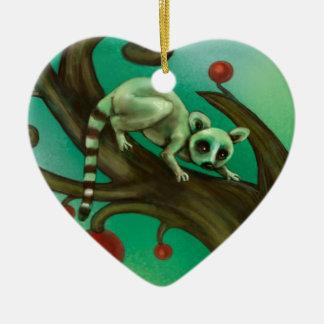 Girl Who Loves Lemurs Ceramic Ornament