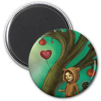 Girl Who Loves Lemurs Fridge Magnets