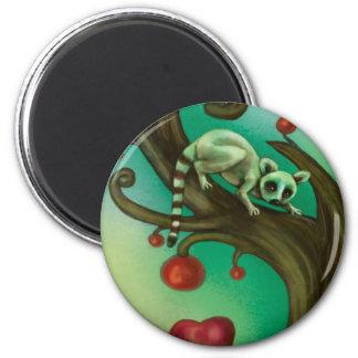 Girl Who Loves Lemurs 2 Inch Round Magnet