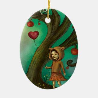 Girl Who Loves Lemurs Christmas Ornament