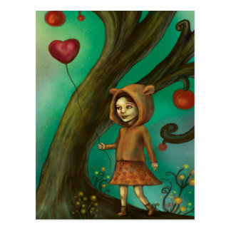 Girl Who Loves Lemurs Postcard
