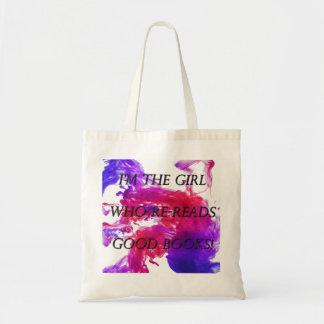 Girl Who Reads Good Books Tote Bag