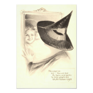 Girl Witch Mirror Card