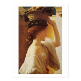 Girl with a Basket of Fruit - Lord Frederick Leigh Post Card