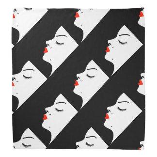 Girl with a beauty spot on chin bandana