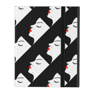 Girl with a beauty spot on chin iPad covers