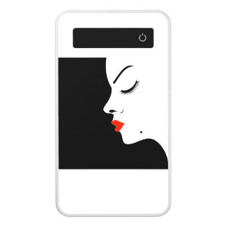 Girl with a beauty spot on chin power bank