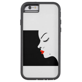 Girl with a beauty spot on chin tough xtreme iPhone 6 case