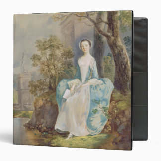 Girl with a Book Seated in a Park, c.1750 (oil on Binder