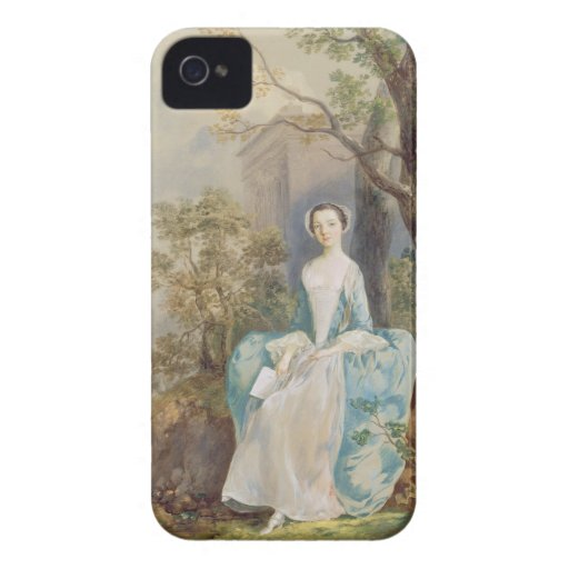 Girl with a Book Seated in a Park, c.1750 (oil on Case-Mate iPhone 4 Case