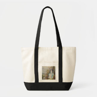 Girl with a Book Seated in a Park, c.1750 (oil on Impulse Tote Bag