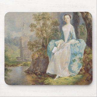 Girl with a Book Seated in a Park, c.1750 (oil on Mouse Pad