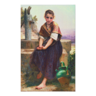 Girl with a Broken Pitcher Poster