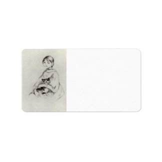 Girl with a Cat by Berthe Morisot Personalized Address Labels