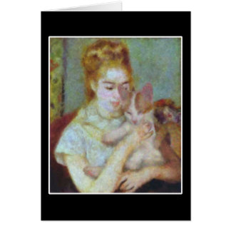 Girl with a Cat Cards