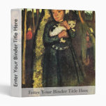 Girl With A Cat In The Birch Forest By Modersohn- 3 Ring Binders