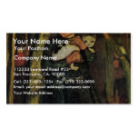 Girl With A Cat In The Birch Forest By Modersohn- Business Cards