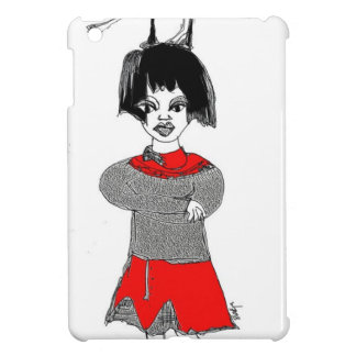 girl with a cat iPad mini cover
