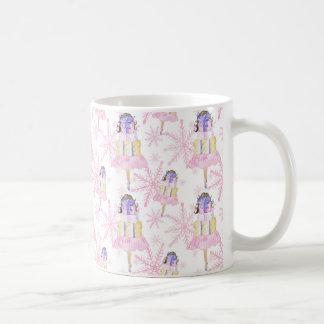 Girl With a Christmas Gift Coffee Mug