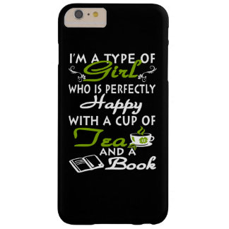 Girl with a cup of tea and a book barely there iPhone 6 plus case