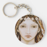 girl with a daisy chain key chain