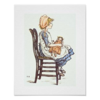 Girl with a Doll Poster