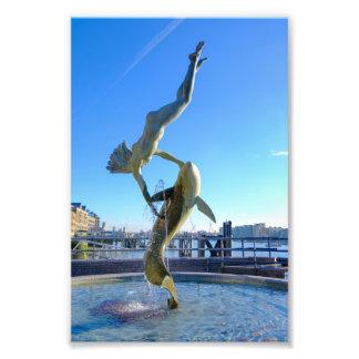 Girl with a Dolphin (1973) Tower Bridge London UK Photo Print