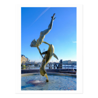Girl with a Dolphin (1973) Tower Bridge London UK Postcard