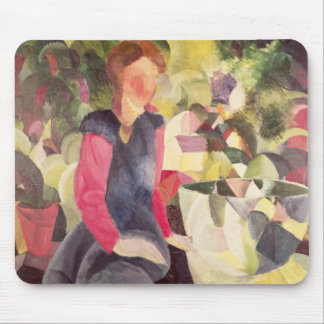 Girl with a Fish Bowl, 20th century Mouse Pad