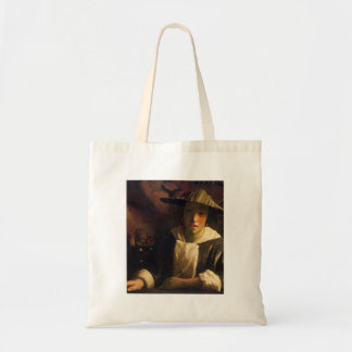 Girl with a flute by Johannes Vermeer Bags