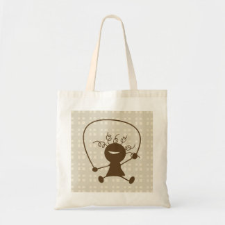 Girl With A Jump Rope Tote Bag