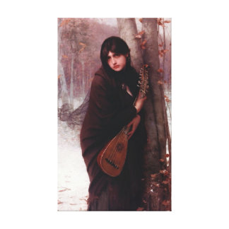 Girl With A Mandolin - Painting Reproduction Canvas Prints