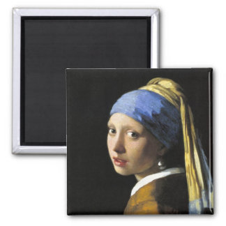 Girl With a Pearl Earring 2 Inch Square Magnet