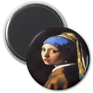 Girl with a Pearl Earring After Johannes Vermeer Magnet