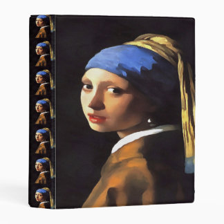 Girl with a Pearl Earring After Johannes Vermeer Mini Binder