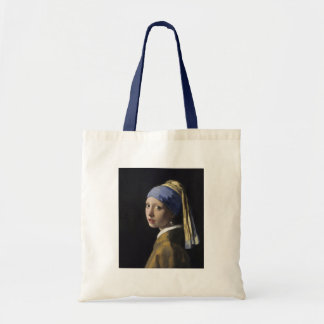 Girl with a Pearl Earring by Johannes Vermeer Budget Tote Bag