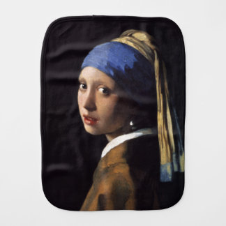 Girl With A Pearl Earring by Johannes Vermeer Burp Cloth